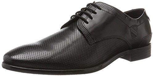 Bugatti Herren 313148031100 Derbys, Schwarz (Black/Black), 42 EU