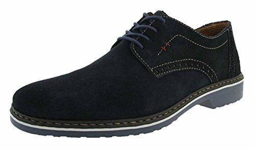 Rieker Herren Halbschuhe Blau - Extra Weit, Schuhgröße:EUR 43