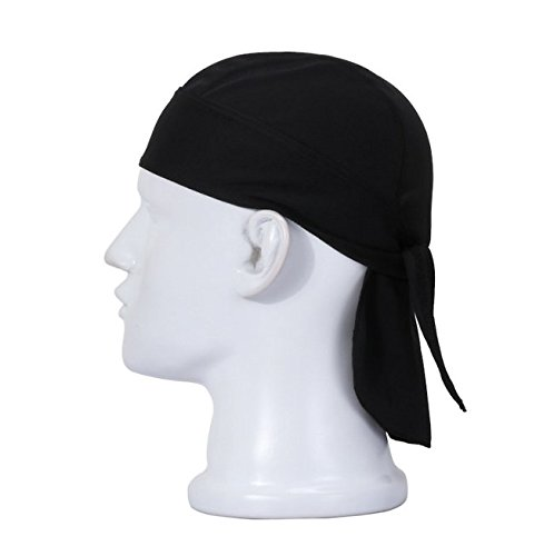 Swallowuk Sport Cap Breathable Outdoor Wandern Kopftuch Piratenhut Stirnband (schwarz)
