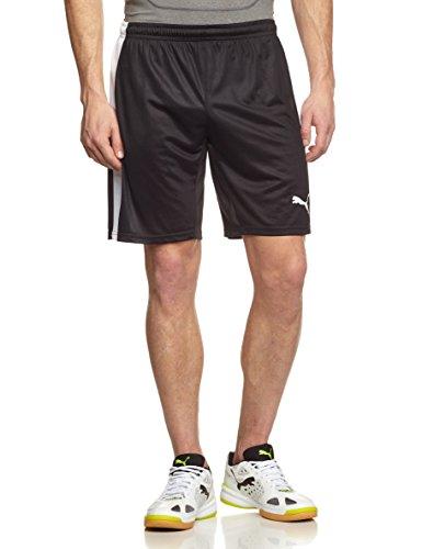 Puma Herren Hose Pitch Shorts with Innerbrief, black-white, L, 702075 03