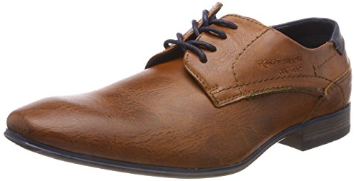 TOM TAILOR Herren 4880104 Derbys, Braun (Nuts), 41 EU