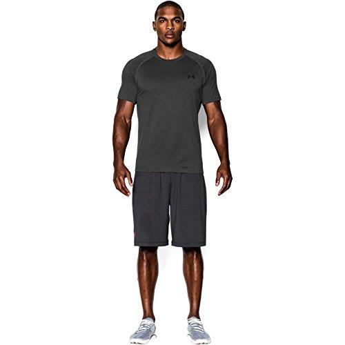 Under Armour Herren UA Tech Ss Fitness T-Shirt, Grau (Carbon Heather), L