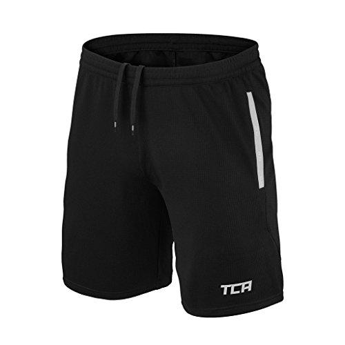 TCA Aeron - Herren/Jungen Trainingsshorts - Atmungsaktiv - Schwarz / Cool Grey (Grau) - M