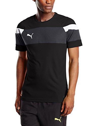 Puma Herren T-shirt Spirit II Training Jersey, black-white, XL, 654655 03