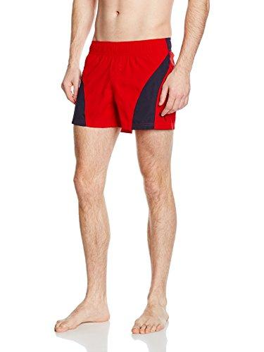 PUMA Herren Badeshorts Active Sportive Beach Shorts M, Puma Red-New Navy, XL, 513121 05