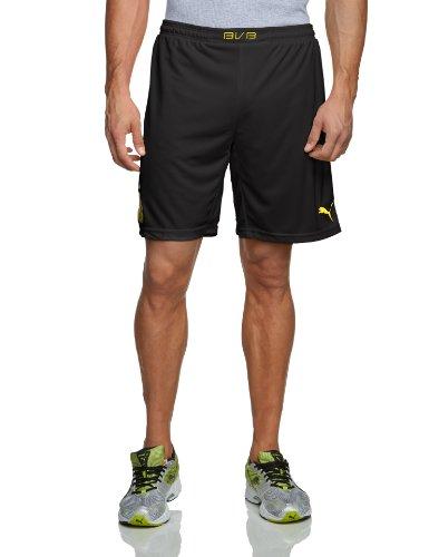 Puma Herren BVB Home Replica Shorts, Black/Blazing Yellow, XXL, 743561 01
