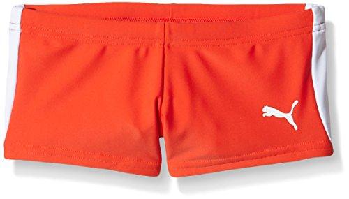 Puma Kinder Badehose Active Cat Logo Trunk, Orange Red, 176, 512380 04