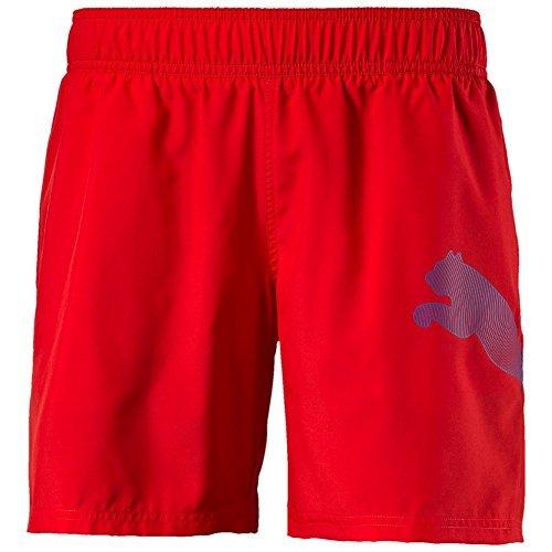 Puma Unisex Active Big Cat Beach Shorts, Red, 128, 512386 04