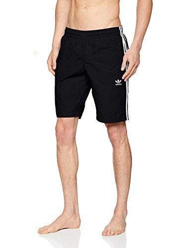 adidas Herren 3-Stripes Badeshorts, Black, M