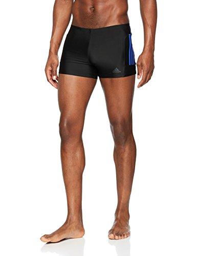 adidas Herren Fitness 3-Streifen Boxer Badehose, Black/Hi-Res Blue, 6