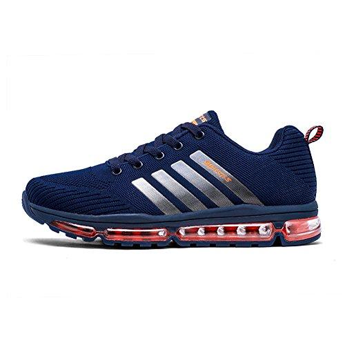 Fexkean Unisex Sportschuhe Laufschuhe Turnschuhe Atmungsaktiv Sneakers Air Sport Casual Shoes Herren Damen (8068Blue44)
