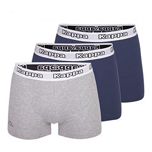 Kappa Boxershorts, 3er oder 6er Pack, Größe:XL, Farbe:2 x navy / 1 x grau