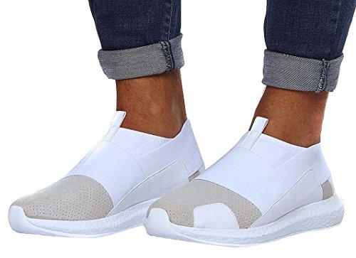 LEIF NELSON Herren Schuhe Freizeitschuhe Elegant Winter Sommer Freizeit Schuhe Männer Sneakers Sportschuhe Laufschuhe EU 44 Weiß