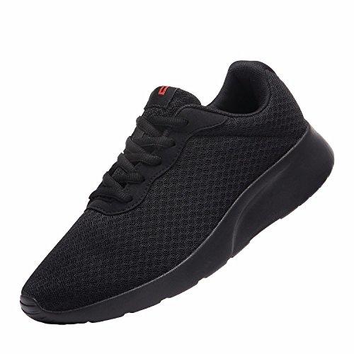 MAIITRIP Laufschuhe Herren Casual Sportschuhe Leichte Gym Sneakers Fitness Turnschuhe Mesh Sport Schuhe,Schwarz/Schwarz,EU-41