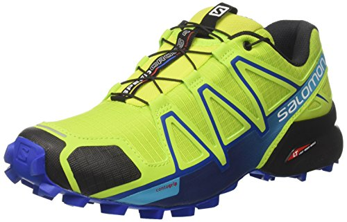 Salomon Herren Speedcross 4 Traillaufschuhe, Gelb (Lime Green/Nautical Blue/Hawaiian O), 46 EU