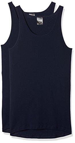 Schiesser Herren Unterhemd Jacke 0/0, 2er Pack, Blau (Navy 815), XX-Large (Herstellergröße: 008)