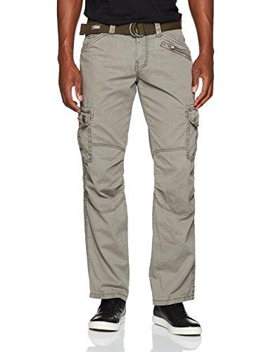 Timezone Herren Cargo Hose BenitoTZ pants incl. belt, Gr. 50 (Herstellergröße: 33/32), Grün (dusty olive 4175)