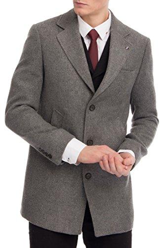 CARISMA Herren Mantel Casual Business Outfit in Verschiedenen Farben Wollmantel Mix Kurzmantel Überzieher Trenchcoat Verschiedene Größen 7553