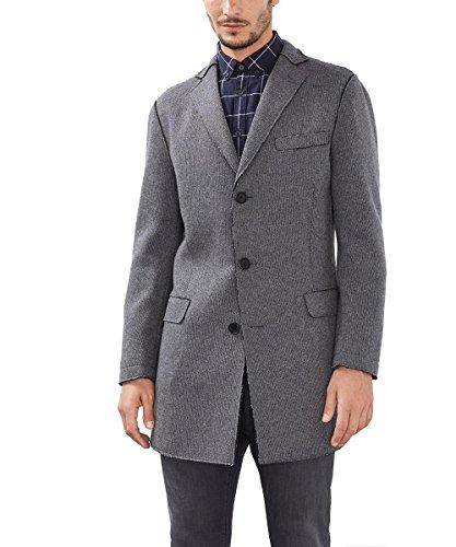 ESPRIT Collection Herren Mantel 096EO2G014, Grau (Dark Grey 020), Large (Herstellergröße: 50)