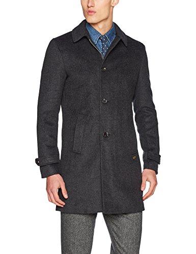 Scotch & Soda Herren Mantel Long Zip-up Coat, Grau (Graphite Melange 0810), X-Large