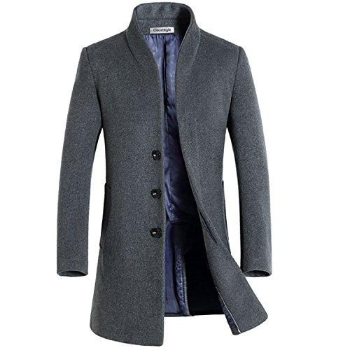 Slim Fit Herren stilvoller WollMantel Winter Business