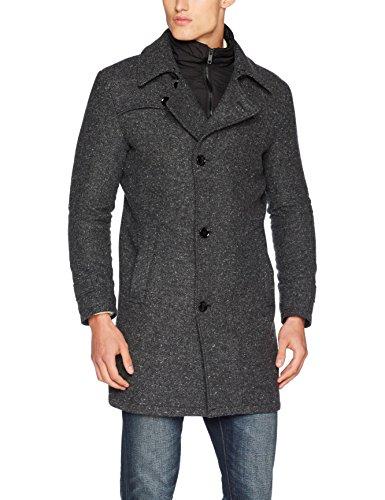 Strellson Premium Herren Mantel 11 Farah 10003998, Grau (Charcoal 010), Medium (Herstellergröße: 48)