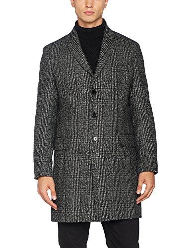 Tommy Hilfiger Tailored Herren Mantel Glenny Otwchk17404, Grau (020), Medium (Herstellergröße: 50)