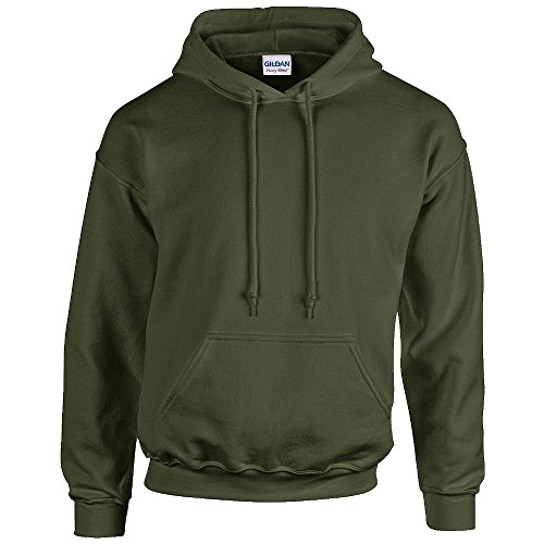 Gildan Heavy Blend Erwachsenen Kapuzen-Sweatshirt 18500 L, Military Green