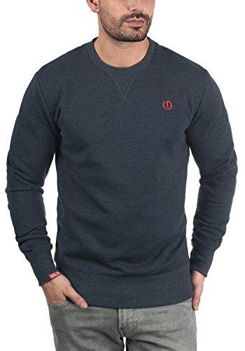 !Solid Benn O-Neck Herren Sweatshirt Pullover Pulli mit Rundhalsausschnitt, Größe:M, Farbe:Insignia Blue Melange (8991)