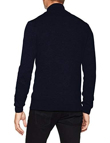 TOM TAILOR Herren Strickjacke Basic Stehkragen, Blau (Navy Eclipse 6298), Medium