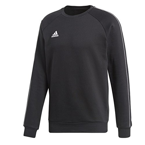 adidas Herren CORE18 Sweatshirt, Black/White, M