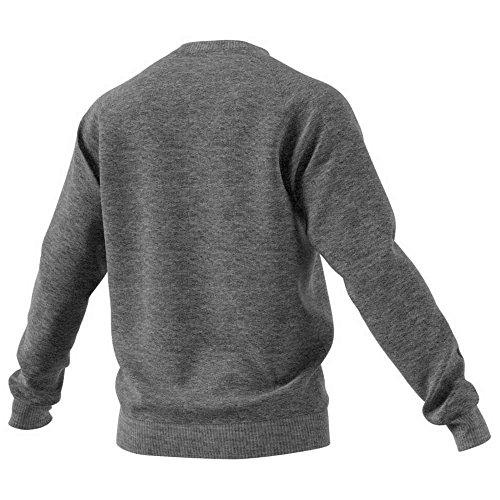 adidas Herren CORE18 Sweatshirt, Dark Grey Heather/Black, L