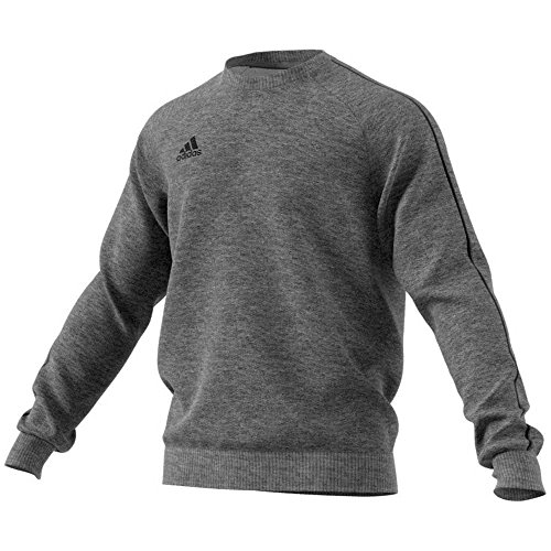 adidas Herren CORE18 Sweatshirt, Dark Grey Heather/Black, L